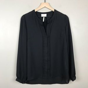 Laundry by Shelli Segal Button Down Pleated Top